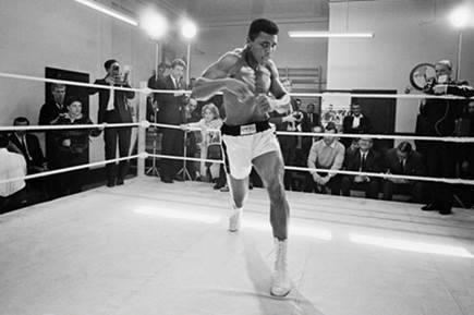 """""""It's the repetition of affirmations that leads to belief. And once that belief becomes a deep conviction, things begin to happen."""" -Muhammad Ali"""