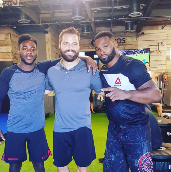 Brett Bartholomew and UFC CHampion, Tyron Woodley