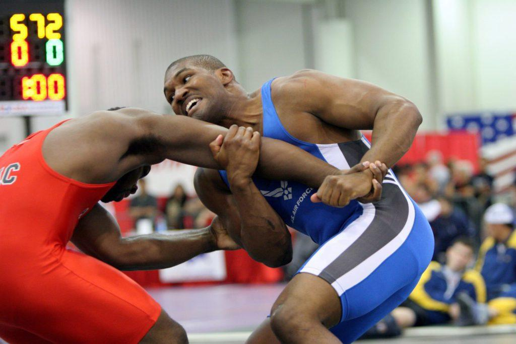 wrestling a competition of strength and technique