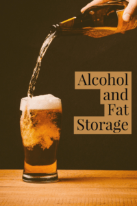alcohol and fat storage