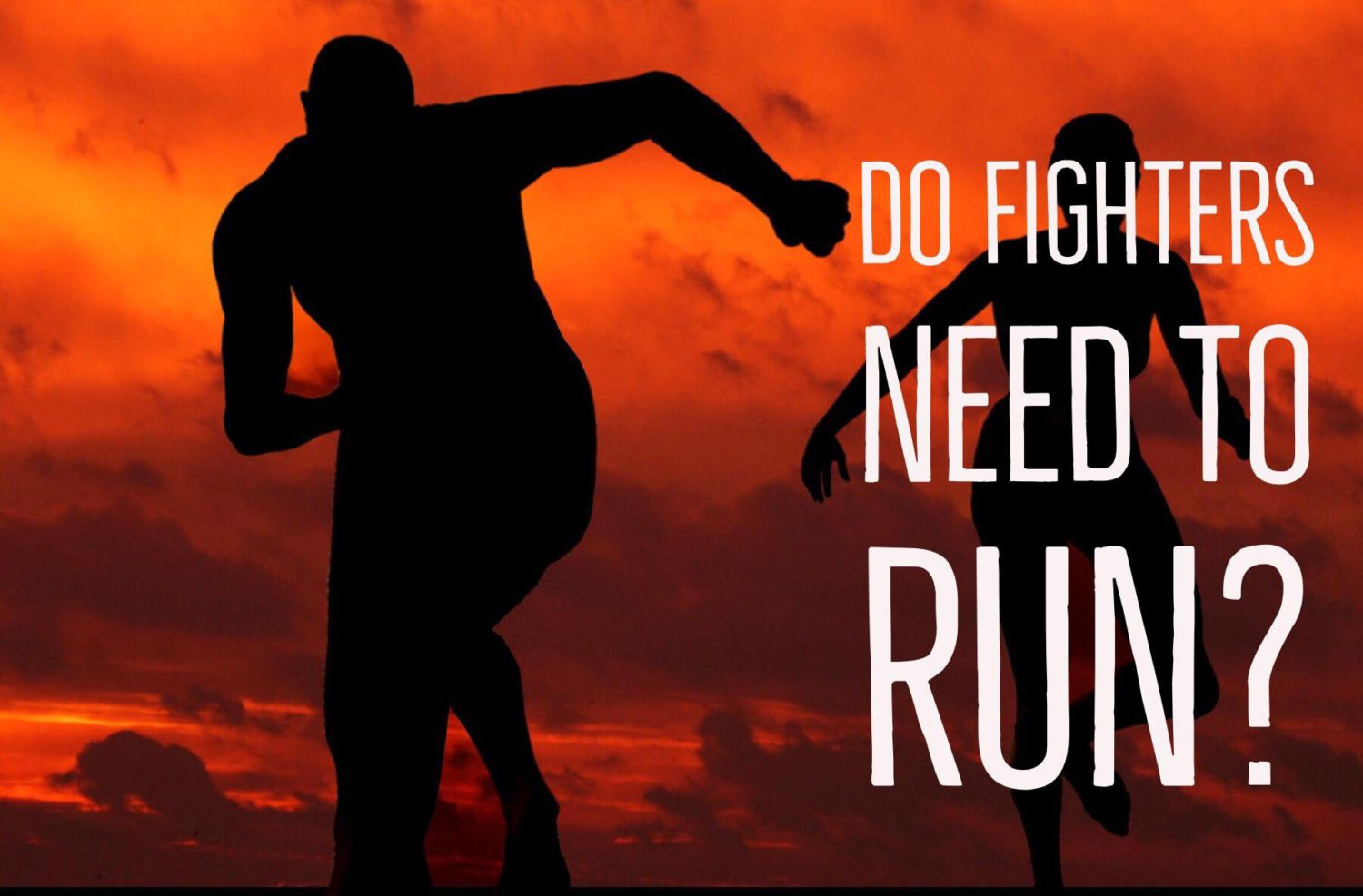 do fighters need to run?