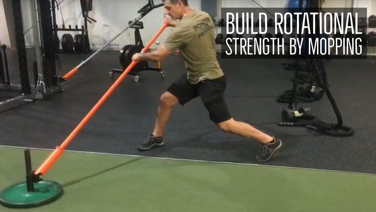 mopping trunk rotation exercise